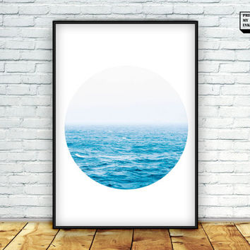 Ocean Print, Circle Print, Circle Photography, Sea Poster, Nautical Print, Sea photography, Ocean Poster, Beach Print, Beach Wall Art, 24x36
