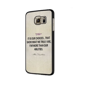 Harry Potter - Albus Dumbledore Quote Samsung Galaxy S6 | S6 Edge Cover Cases