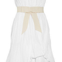 Robert Rodriguez Tiered-hem pleated dress - 60% Off Now at THE OUTNET