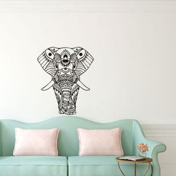 Elephant Front Vinyl Wall Decal