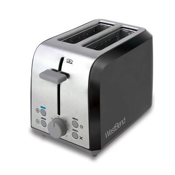 WestBend Two Slice Toaster in Black/Silver