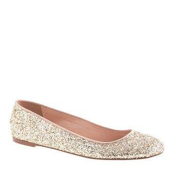 Nora glitter ballet flats - shoes - Women's new arrivals - J.Crew