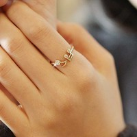Lovely Musical Note Adjustable Ring