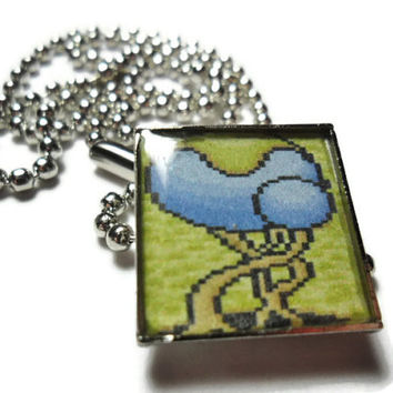 Paladin's Quest tree pendant, geekery jewelry, rpg video game pendant, unisex gamer jewelry, snes rpg