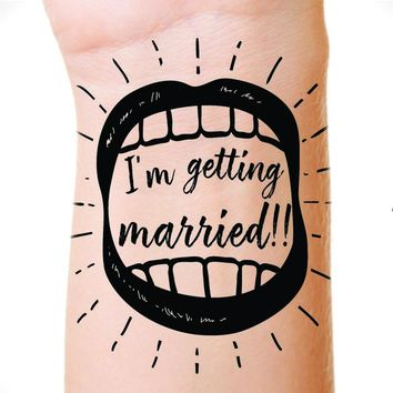 Bachelorette Temporary Tattoo Party Favor Bride and Groom Fun Gift