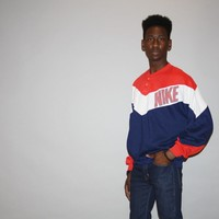 1980s Vintage Rare NIKE Hip Hop Pull Over Colorblock Sweatshirt Jumper – Vanguard Vintage Clothing