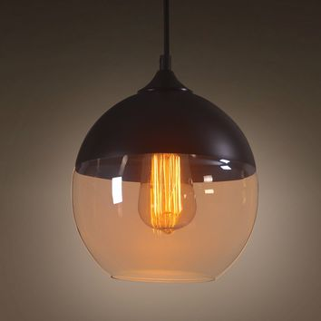 Amber 1 Light Globe Glass Pendant Lighting