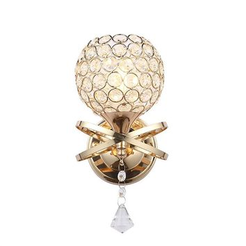 Modern LED Wall Mounted Light Fixture Crystal Lights Decorative Sconce