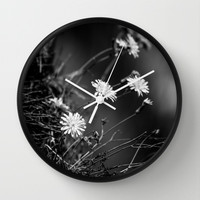 Night Song Wall Clock by Ia Loredana