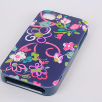 vera bradley iphone 4/4s case - purple flowers