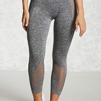 Active Mesh Panel Capri Leggings