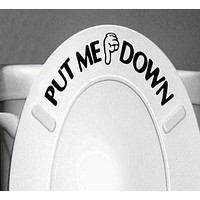 Gesture Hand Decal Funny Bathroom Toilet Seat Wall Sticker