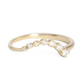 Curved Diamond Shooting Star Ring - N+A - Catbird