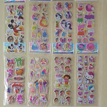 Beautiful Anime Cartoon sticker kids girl Classic toy Xmas decorations Action figure Pony Princess sticker toy Gril toy gift