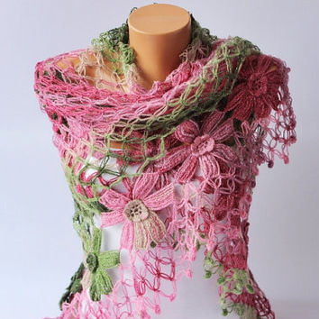 Clearance Sale - Bridal shawl crochet shawl scarf Bridesmaid gift  crocheted shrug capelet wrap - EXPRESS SHIPPING