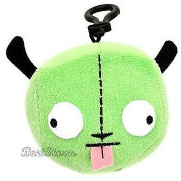 Licensed cool NEW GREEN ALIEN INVADER ZIM ROBOT GIR IN DISGUISE DOG EARS HEAD PLUSH CLIP ON