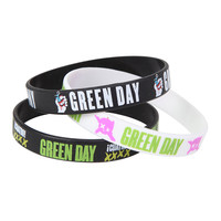Green Day American Idiot Rubber Bracelet Set