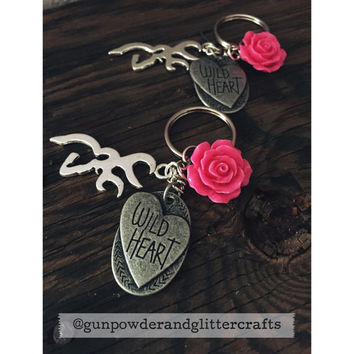 Browning Hot Pink Flower and Wild Heart Charm