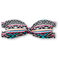Malibu Head Games Tribal Print Bandeau Bikini Top