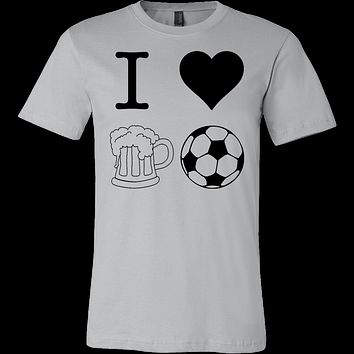 I Heart Beer and Football T-shirt
