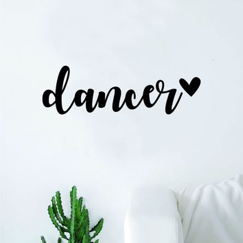 Dancer Heart Quote Wall Decal Sticker Decor Vinyl Art Bedroom Teen Girls Dance Dancing Music