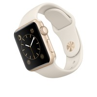 Apple Watch Sport - 38mm Gold Aluminum Case with Antique White Sport Band