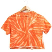NEON COLLECTION: Tangerine Tie-Dye Cropped Tee