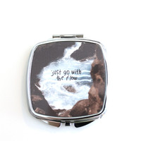 Go with the Flow River Compact Mirror