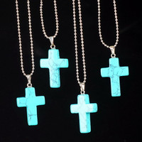 Fashion cross Crystal necklace