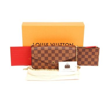 Louis Vuitton Felicie Damier Ebene BRAND NEW with Tags  L018 Canvas Cross Body Bag