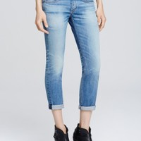 rag & bone/JEAN Tomboy Cropped Skinny Light Wash in West Village | Bloomingdales's