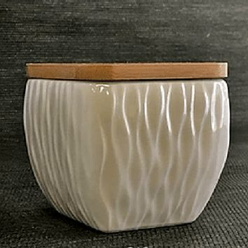 White Wave Ceramic Tea Canister