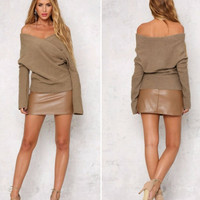 Sweater Weather Brown Pullover