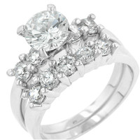 Alexis Classic Round Engagement Wedding Ring Set | 4ct | Cubic Zirconia