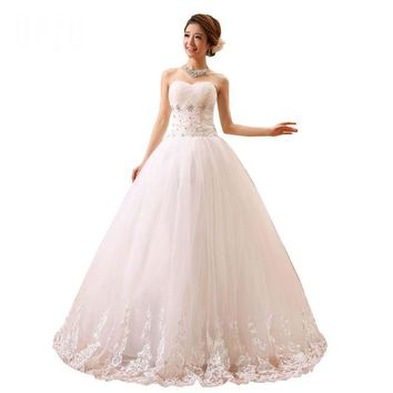 Spring and Summer Style Bride Wedding Dress Strap Lace Princess Wedding Romantic Wedding With Embroidery