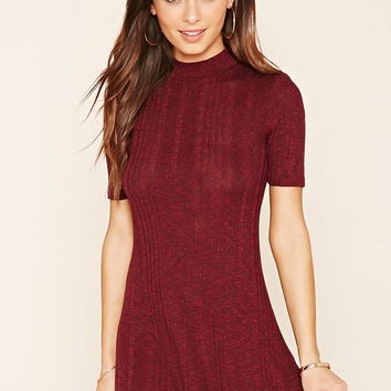 Marled Knit Skater Dress