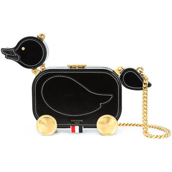 Thom Browne Duckling Bag With Chain Shoulder Strap In Calf Leather - Farfetch