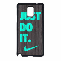 Nike Just Do It Wood Colored Darkwood Wooden Fdl Samsung Galaxy Note 4 Case