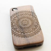 Mandala iPhone 4 Case Wood iPhone 4 Case Floral iPhone 4 Case