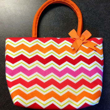 Monogrammed Insluated Lunch Tote - Sorority, Southern, School, Classy