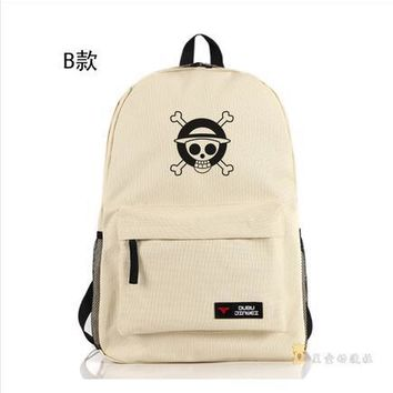 Student Backpack Children High Q Japanese style Anime ONE PIECE Backpack large capacity unisex Students BACKPACK Computer bag AT_49_3