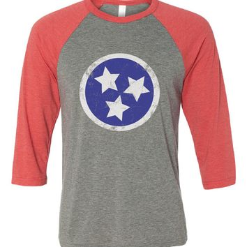Tennessee State Flag Tri-Star Baseball Tee