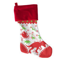 T-Rex Dinosaurs Christmas Stocking