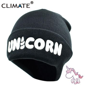 Women's Unicorn Winter Warm Beanie Hat