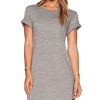 EVER Monroe T Shirt Dress in Gray