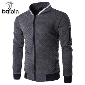 New Men's Bomber Jacket Zipper Design Coats Men Casual Cotton Stand Collar Sportswear Spring Slim Fit Varsity Jacket