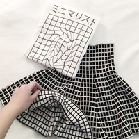 Reversible Grid Skirt from MILK CLUB