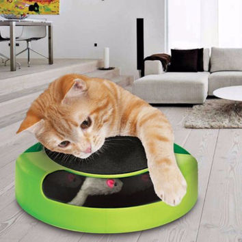 Fun Moving Rotating Mouse Inside (not real mouse lol) Play Toy for Cats