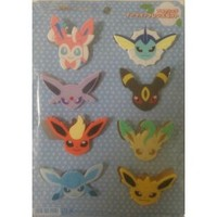 Pokemon Center 2013 Espeon Flareon Glaceon Jolteon Leafeon Sylveon Umbreon Vaporeon Set of 8 Face Clips