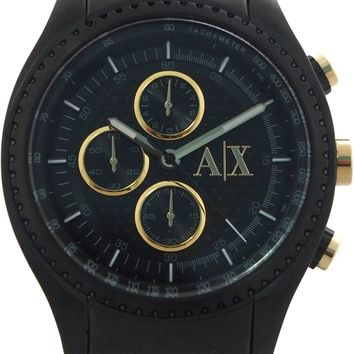 armani exchange - ax1604 chronograph black stainless steel watch